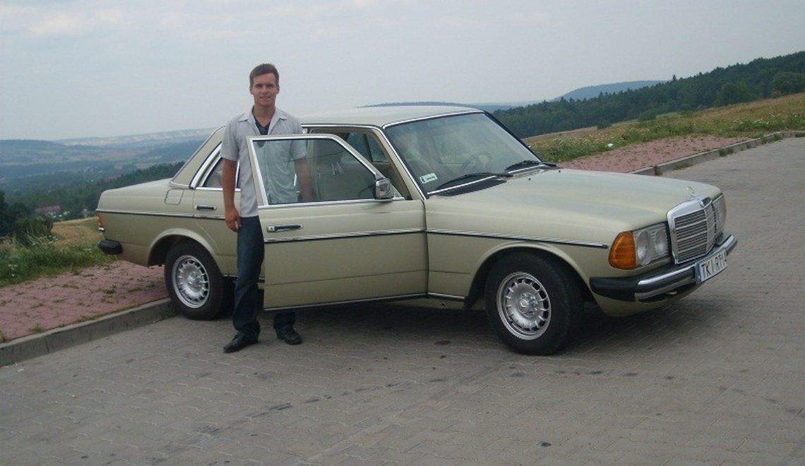 Mój pierwszy zabytkowy samochód: Mercedes Benz W123!