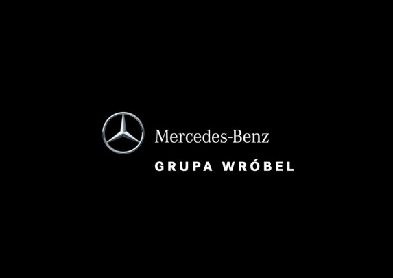 Mercedes-Benz Grupa Wróbel - Logo Vertical - 4C - Negative