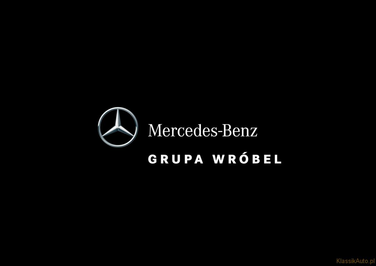 Mercedes-Benz Grupa Wróbel - Logo Vertical - 4C - Negative wBg