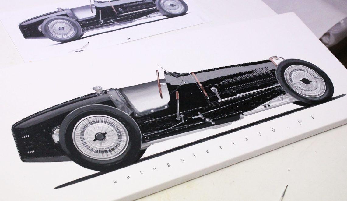 Prace fana malowanej motoryzacji