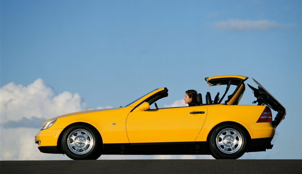 Trendsetter ze składanym dachem vario: 25 lat temu zadebiutował Mercedes-Benz SLK