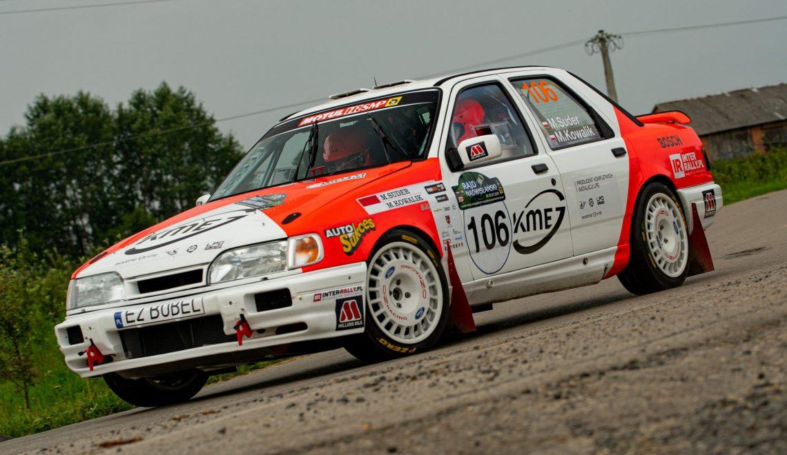 Konsekwencja nagrodzona – Suder i Kowalik triumfują w Rajdzie Nadwiślańskim w Fordzie Sierra Cosworth 4×4